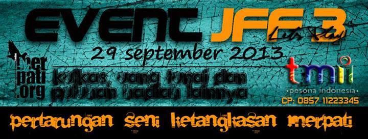 Event JFF 3 JAKARTA di TAMAN MINI INDONESIA INDAH